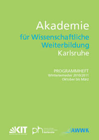 Cover Programmheft WiSe 10/11